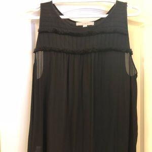 NWOT Loft sleeveless blouse with detail